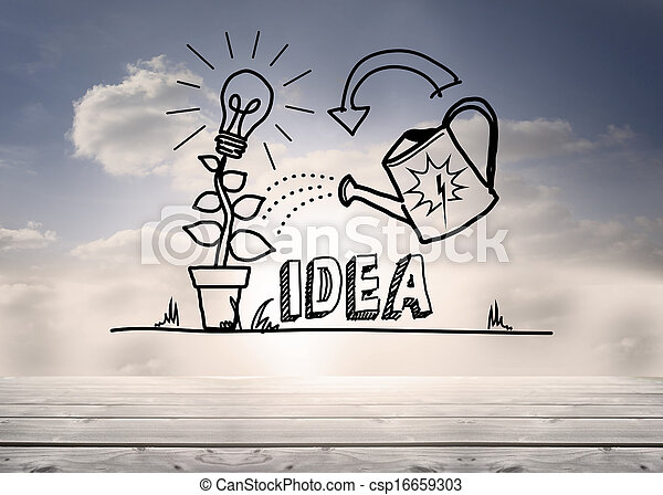 crescendo, gráfico, céu, idéia - csp16659303