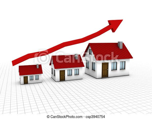 crescendo, habitação, mercado - csp3940754