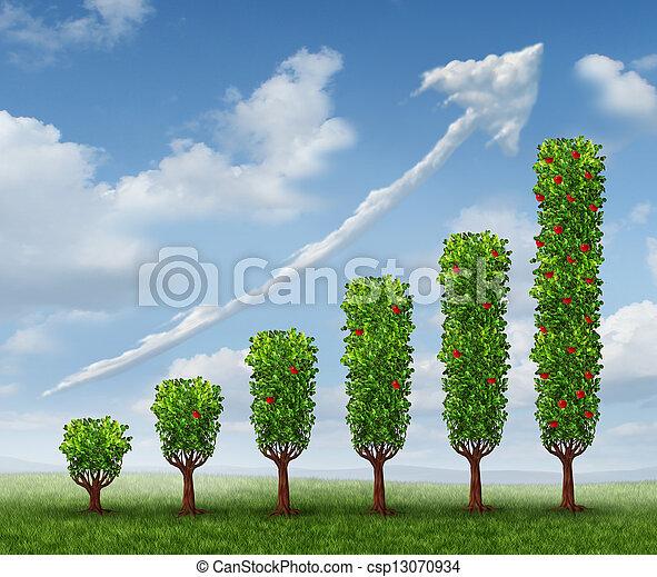 crescendo, negócio, sucesso - csp13070934
