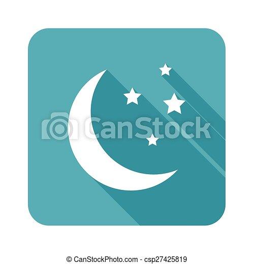 Crescent moon icon - csp27425819