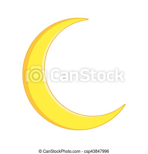 crescent moon vector symbol icon design beautiful illustration isolated on white background https www canstockphoto com crescent moon vector symbol icon design 43847996 html