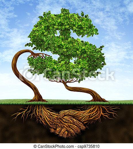 crescimento, financeiro, acordo - csp9735810