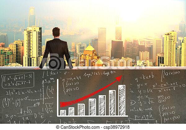 crescimento, financeiro - csp38972918