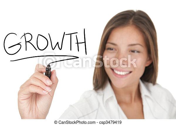 crescimento, negócio - csp3479419