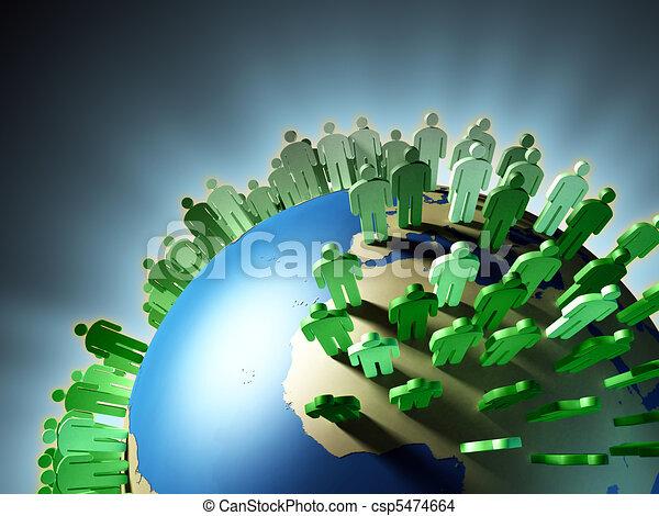 crescita, popolazione - csp5474664