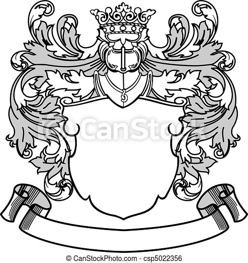 crest and banner coat of arms vector illustration colors are rh canstockphoto com Crest Clip Art Blank Crest Vector