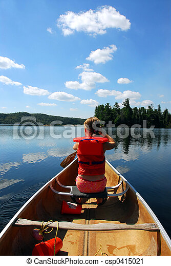 criança, canoa - csp0415021