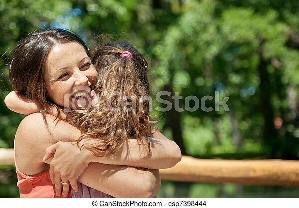 criança, -, felicidade, dela, mãe - csp7398444