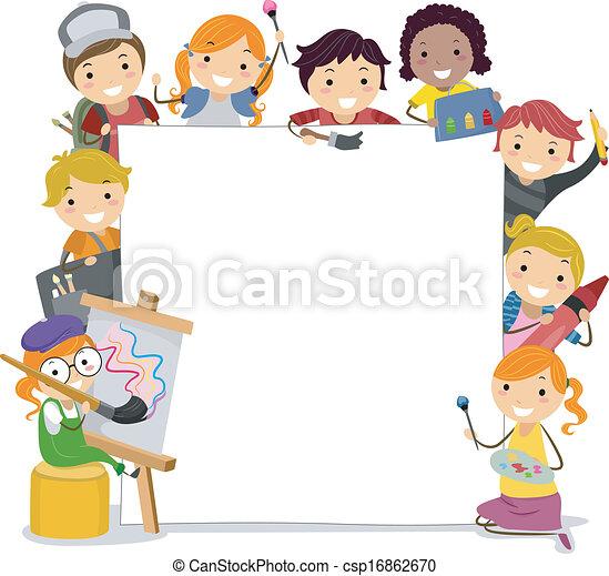 crianças, arte - csp16862670