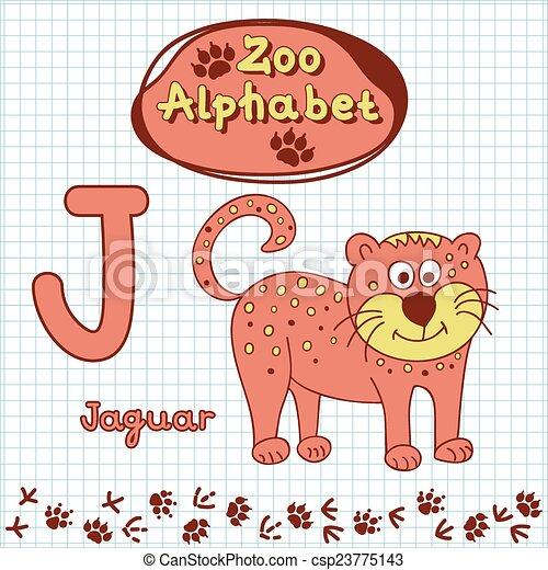 Criancas Coloridos Alfabeto Alfabeto Onca Pintada Animais