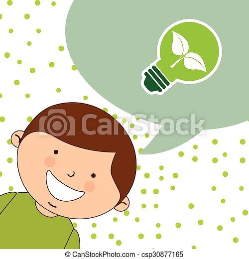 crianças, ecológico - csp30877165