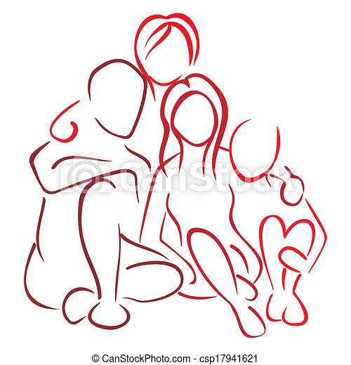 crianças, família - csp17941621