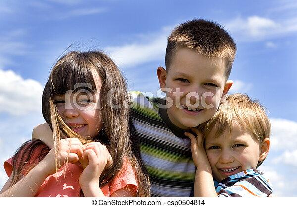 crianças, feliz - csp0504814