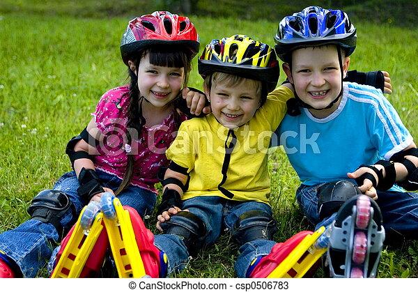 crianças, feliz - csp0506783