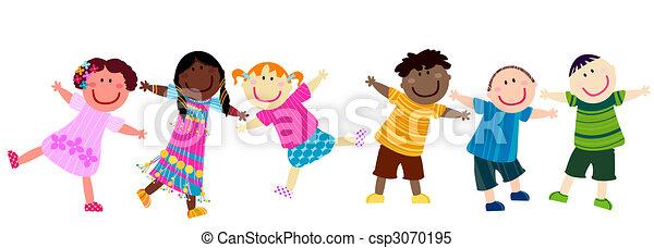 crianças, feliz - csp3070195