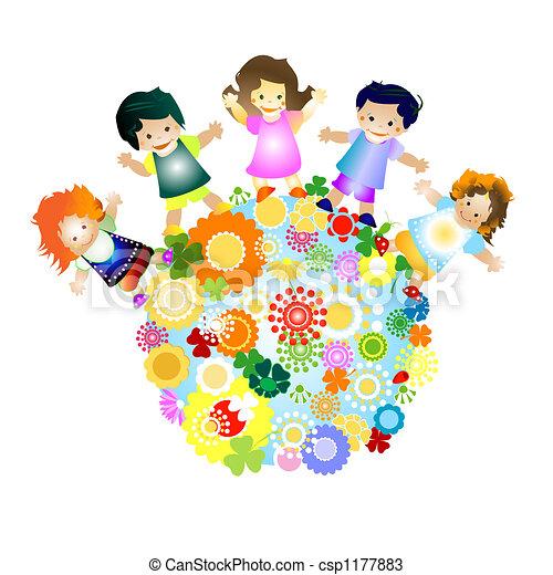 Criancas Feliz Criancas Coloridos Ilustracao Alegre Planeta
