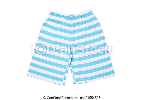 crianças, listrado, -, desgaste, shorts - csp21554528