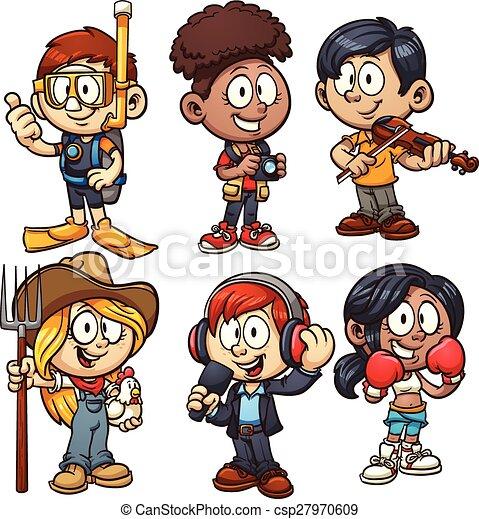 crianças, ocupações - csp27970609