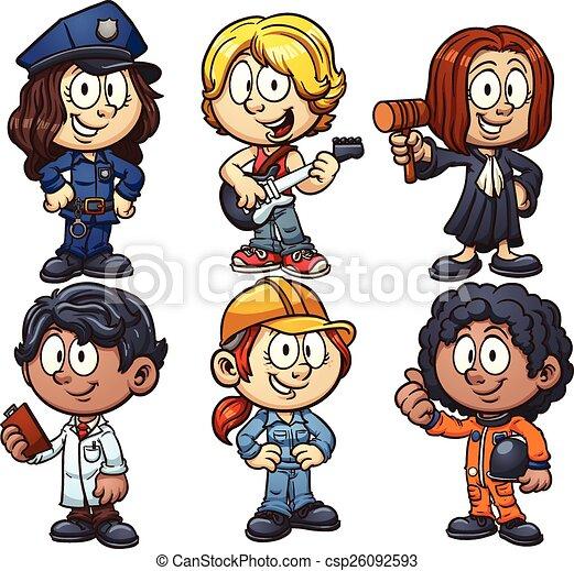crianças, ocupações - csp26092593