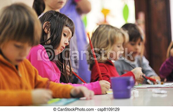 crianças, pré-escolar - csp8109129