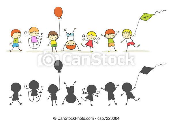 crianças, tocando - csp7220084