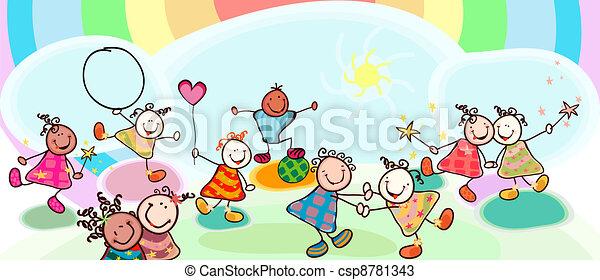 crianças, tocando - csp8781343