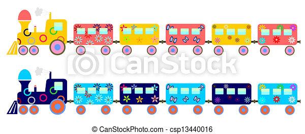 crianças, trem - csp13440016
