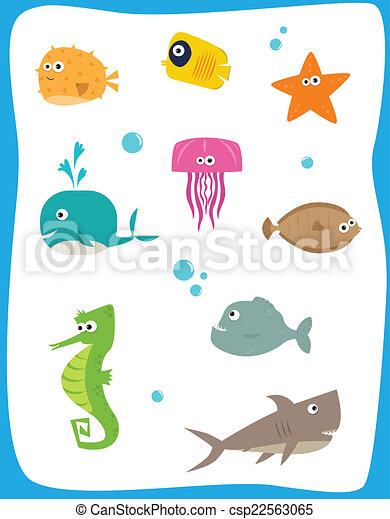 criaturas mar - csp22563065