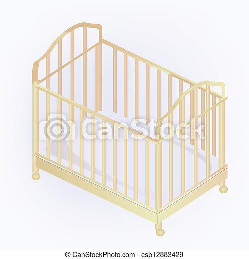 crib illustration - csp12883429