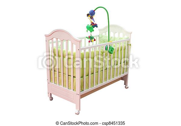crib isolated on white - csp8451335