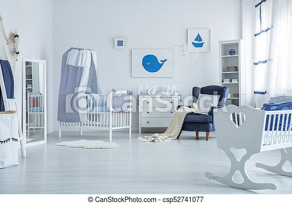 Crib with canopy - csp52741077