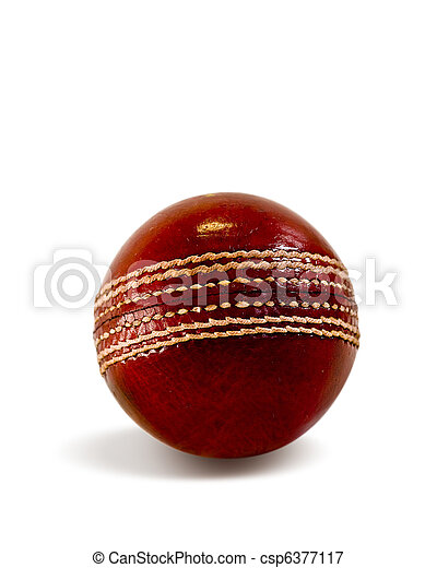 Cricket ball isolated - csp6377117