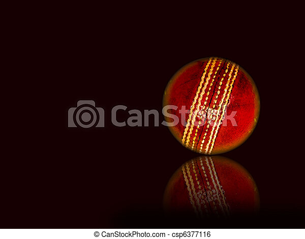 Cricket ball isolated - csp6377116