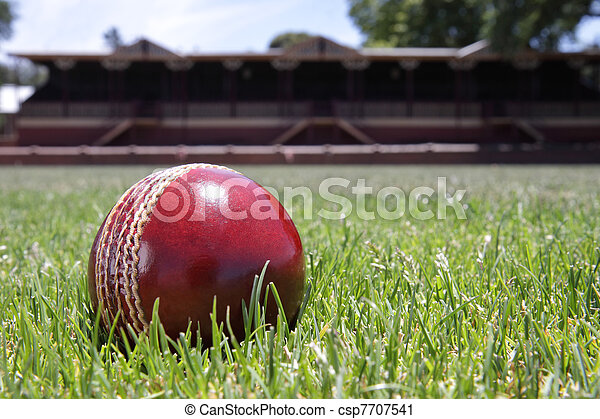 Cricket ball. - csp7707541