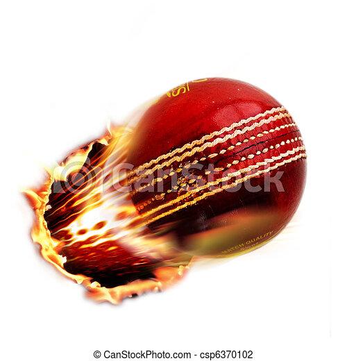 Cricket ball through fire - csp6370102