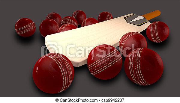 Cricket Bat And Balls - csp9942207
