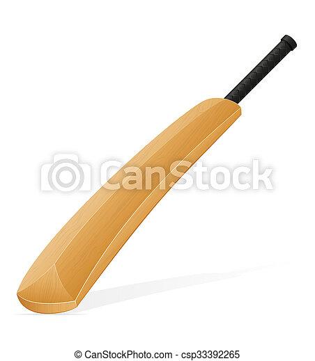 cricket bat illustration - csp33392265