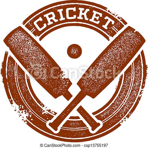 Cricket Sport Stamp - csp13755197