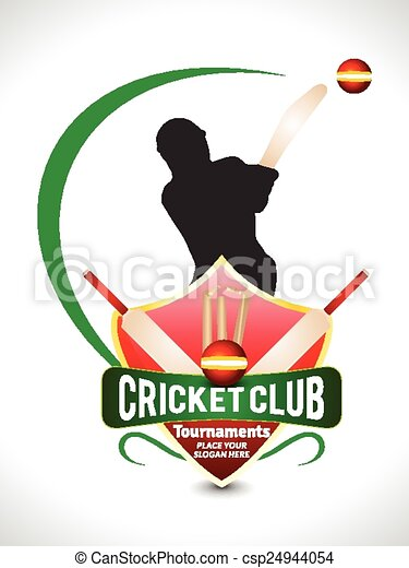 Cricket Tournament Text Background - csp24944054