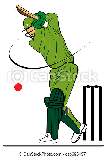 Cricketer illustration. Illustration for the cricketer ...
