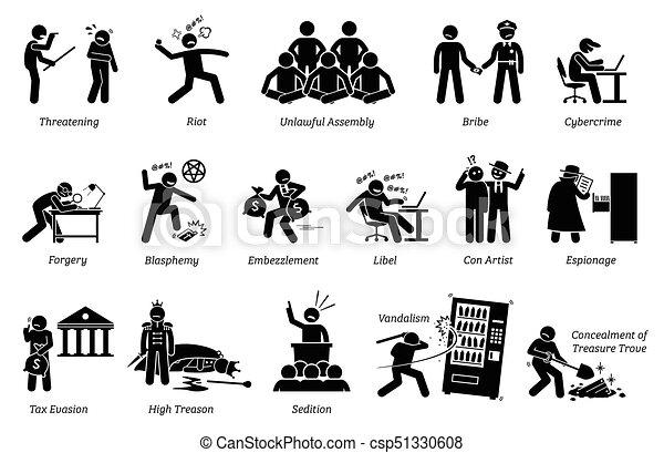 Crime and Criminal. - csp51330608