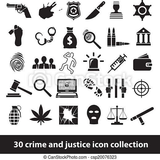 crime and justice icons - csp20076323