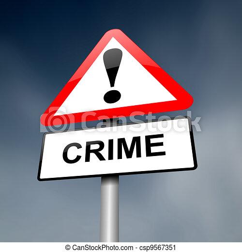 Crime awareness. - csp9567351
