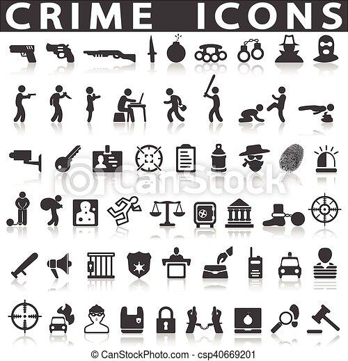 crime icons - csp40669201