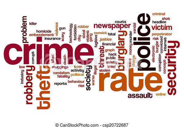 crime rate word cloud crime rate concept word cloud background rh canstockphoto com cyber crime clipart crime prevention clipart images