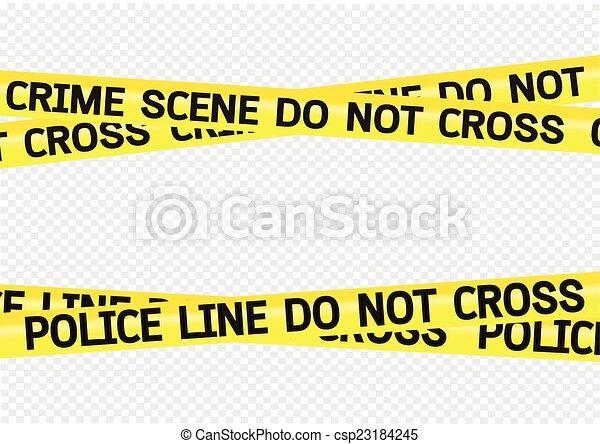 Crime scene danger tapes illustration - csp23184245