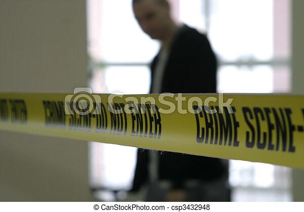 Crime scene police line tape - csp3432948