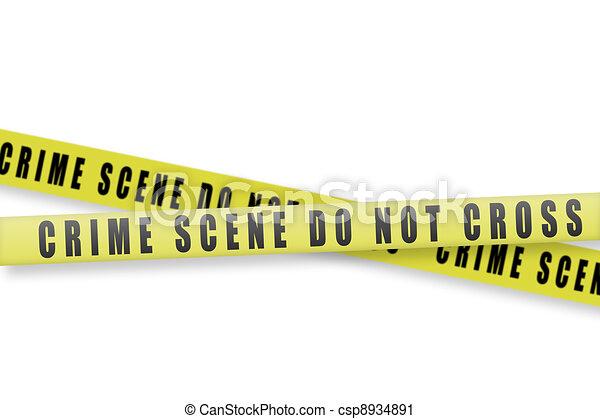 crime scene tape - csp8934891