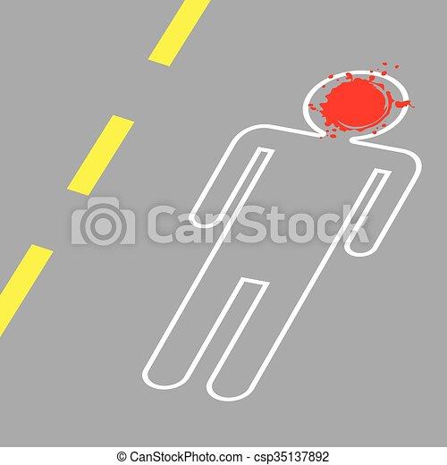 Crime Scene Vector Illustration - csp35137892
