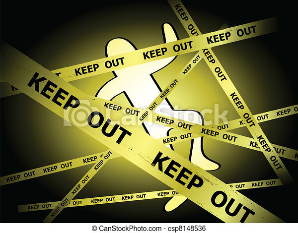 Crime scene with Keep Out lines - csp8148536
